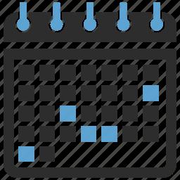 calendar, calendars icon