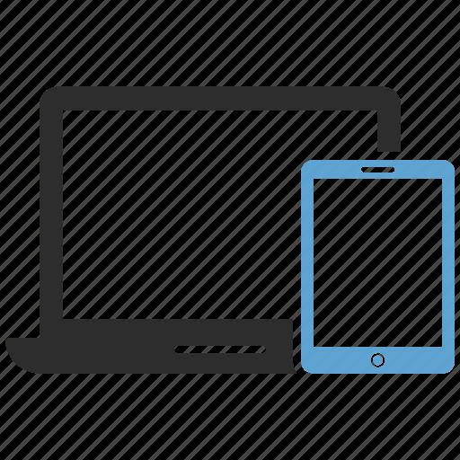 computer, devices, ipad, iphone, laptop, responsive icon