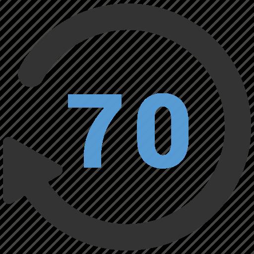 clock, history, seventy icon