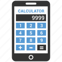 calculate, calculation, calculator, math, mobile icon