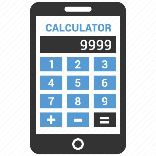 Calculate, calculation, calculator, math, mobile icon - Download on Iconfinder