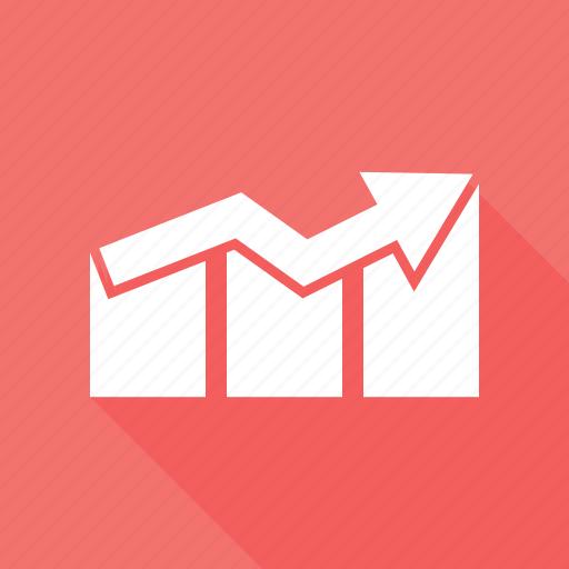 arrow, ascending, bar, business, profit icon