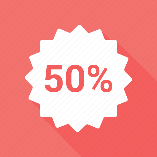 badge, campaign, discount, discount badge, fifly icon