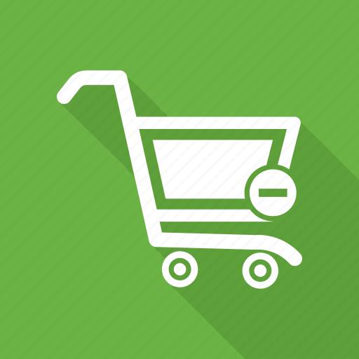 cart, ecommerce, minus, shopping, trolley icon