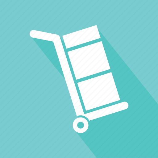 box trolley, hand trolley, hand truck, package icon