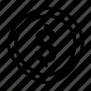 cent, coin, dollar, money icon icon
