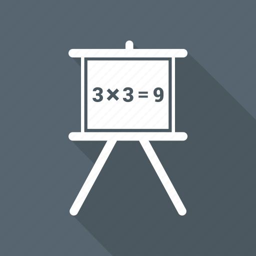 Blackboard, education, math, school icon - Download on Iconfinder