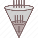 filtration, riddle, sifter; sieve, strainer icon