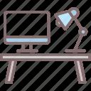 desk, office, table, workplace, workstation