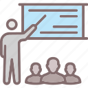 meeting, presentation, seminar, training program, workshop icon