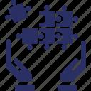 communion, compatibility, harmony, jigsaw puzzle, similarity icon