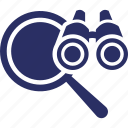 binoculars, forecasting, magnifying, telescope, view icon