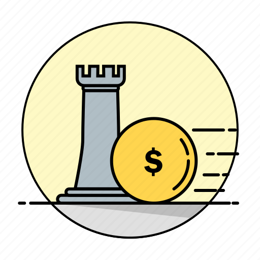 business, dollar, finance, money, payment, rounded, strategy icon