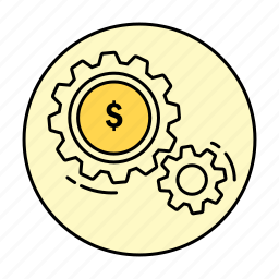 business, cash, dollar, finance, money, rounded, work icon