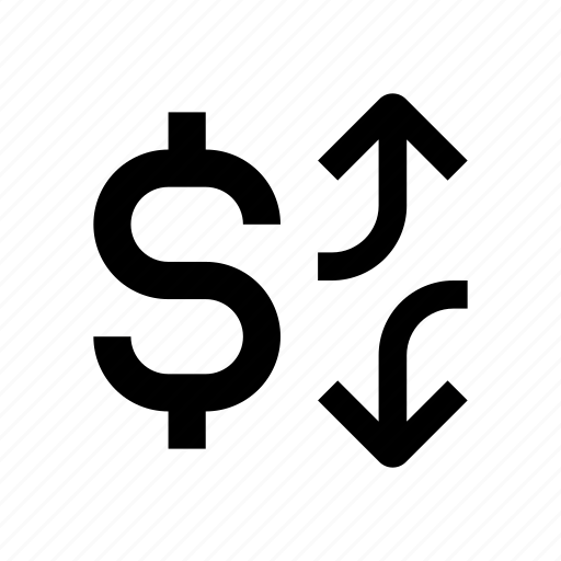 business, dollar, fall, finance, growth, money, rate icon