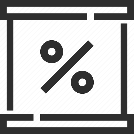 business, percent, presentation icon