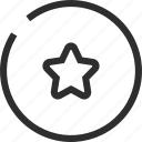 badge, business, ecommerce, finance, star, sticker icon