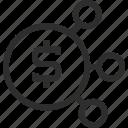 blockchain, business, dollar, ecommerce, finance icon