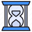 business, finance, glass, hour, management, time, watch icon