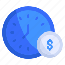business, finance, investment, management, money, time, value icon