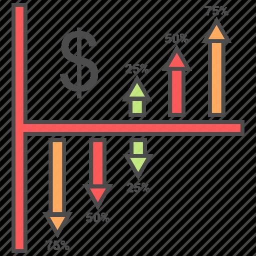 business, chart, growth, statistics, work icon