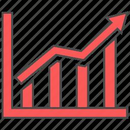 arrow, chart, growth, increase icon