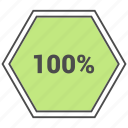 hundred, info, information, percent icon