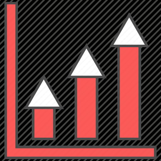 growth, increase, investment, money, profit, revenue icon