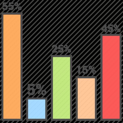 business, finance, graph, management icon