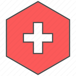 health, hospital, medical, sign icon