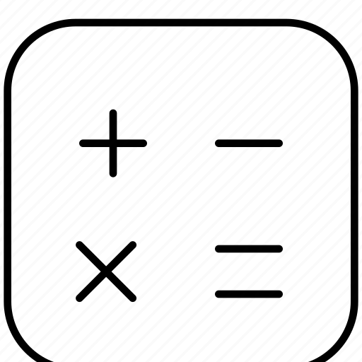 bussiness, calculating, calculator, device, maths, sign, technology icon