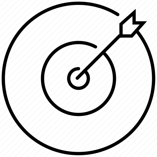 arrow, business, direction, gesture, goal, startup, target icon