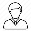 avatar, businessman, employee, job, man, tie, worker icon