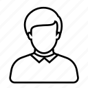 avatar, businessman, employee, job, man, profile, worker icon