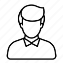 avatar, businessman, employee, job, tie, user, worker icon