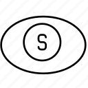 business, cash, currency, dollar, eye, finance, money icon