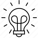 brainstorm, business, finance, idea, lightbulb, strategy, think icon