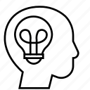 brainstorm, business, idea, lightbulb, people, strategy, think icon