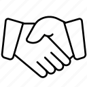 agreement, business, cooperation, finance, gestures, handshake, seo icon