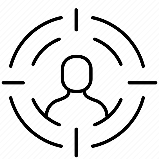 business, client, customer, human resources, job, marketing, target icon