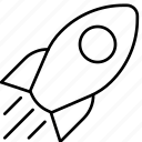 business, finance, marketing, rocket, rocket ship, startup, transportation icon
