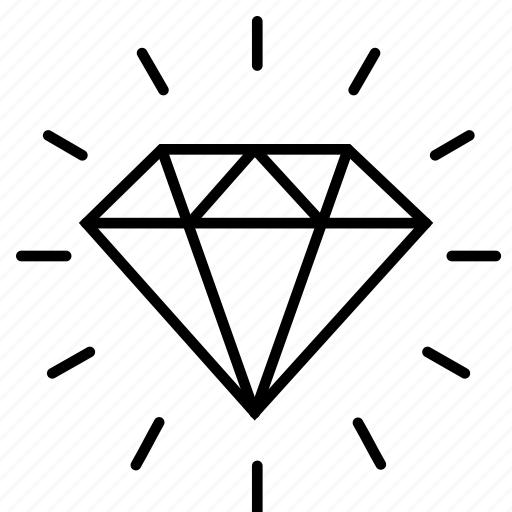 business, diamond, fashion, finance, jewel, value, wealth icon
