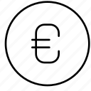 bank, business, coin, currency, euro, finance, money icon