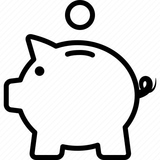 Line Drawing Piggy Bank : Bank coin deposit fund piggy piggybank savings icon