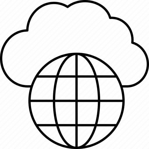 browser, cloud, internet, server icon