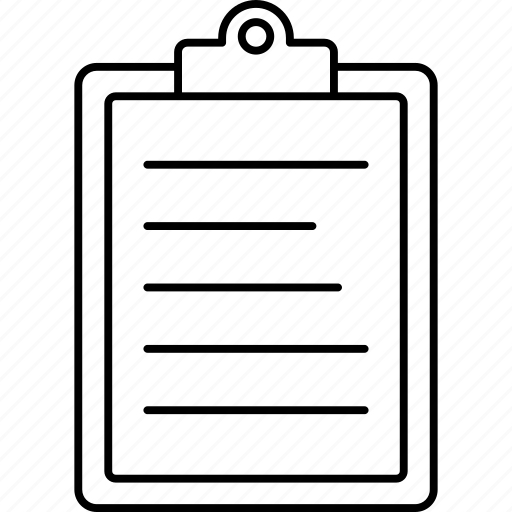 clipboard, document, project, sheet icon