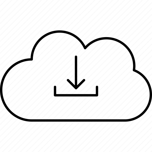 cloud, download, server, storage icon