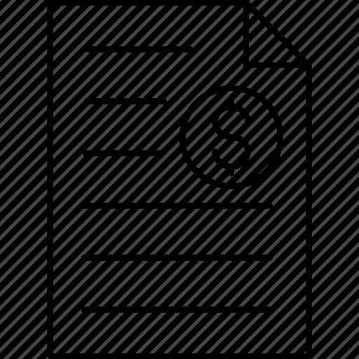 document, file, invoice, sheet icon