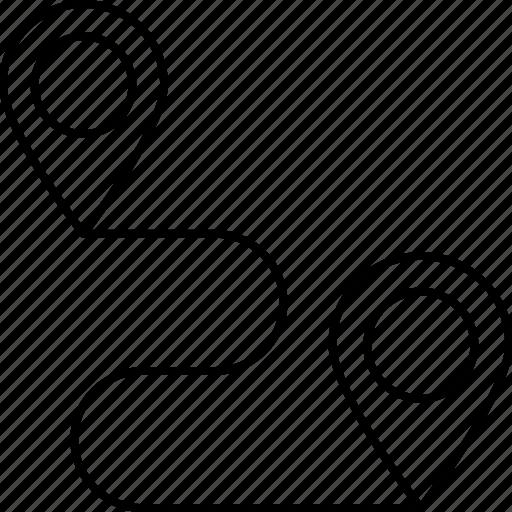 gps, location, map, track icon