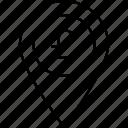 location, marker, pin, pound icon